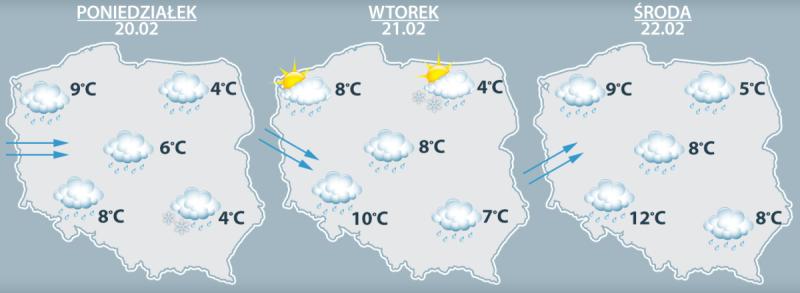 Prognoza pogody na początek przyszłego tygodnia