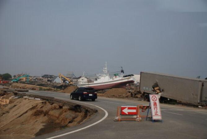 Wschodnie wybrzeże Japonii po przejściu tsunami (Kontakt24/Marcin Kor)