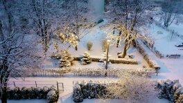 Sypnęło śniegiem