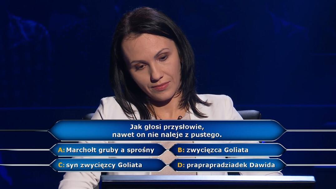 """Przysłowie o Salomonie w """"Milionerach"""" w pytaniu za 125 tysięcy złotych"""