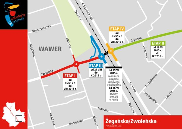 Etapy inwestycji i zamknięć ulic infoulice.um.warszawa.pl
