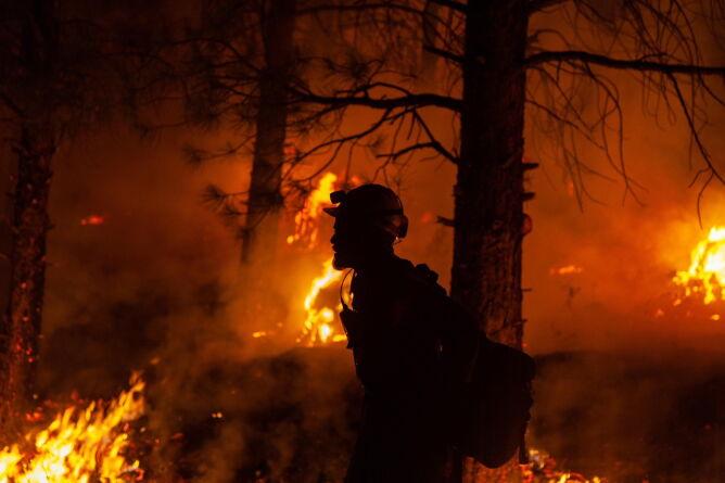 Pożary w stanie Oregon (US FOREST SERVICE HANDOUT/PAP/EPA)