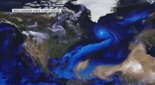 Symulacja cyrkulacji powietrza i pyłów w atmosferze