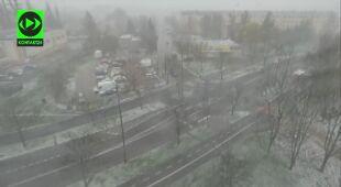 Śnieg w Białymstoku